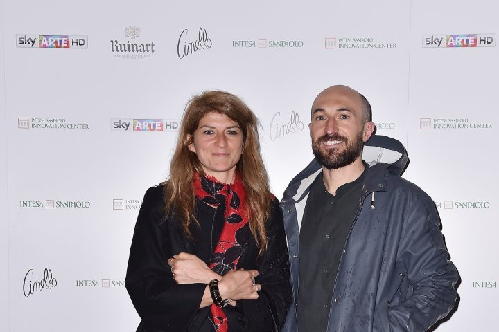 MILAN, ITALY - APRIL 11:  (R-L) Paolo Metaldi and Cristina Moro attend Save The Artistic Heritage - Vernissage Cocktail on April 11, 2018 in Milan, Italy.  (Photo by Jacopo Raule/Getty Images for Cinello) *** Local Caption *** Paolo Metaldi;Cristina Moro