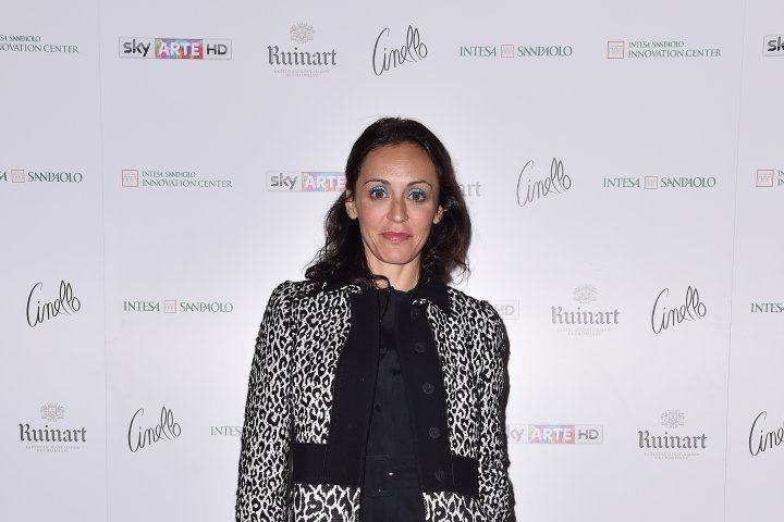 MILAN, ITALY - APRIL 11:  Maddalena Polito attends Save The Artistic Heritage - Vernissage Cocktail on April 11, 2018 in Milan, Italy.