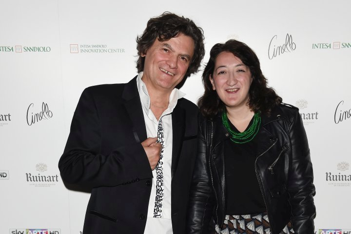 MILAN, ITALY - APRIL 11:  Mario Cristiani and Chandice Yang attend Save The Artistic Heritage - Vernissage Cocktail on April 11, 2018 in Milan, Italy.  (Photo by Stefania M. D'Alessandro/Getty Images for Cinello) *** Local Caption *** Mario Cristiani;Chandice Yang