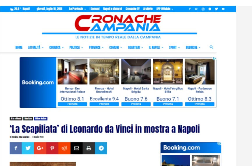 """""""La Scapiliata"""" di Leonardo da Vinci in mostra a Napoli"""