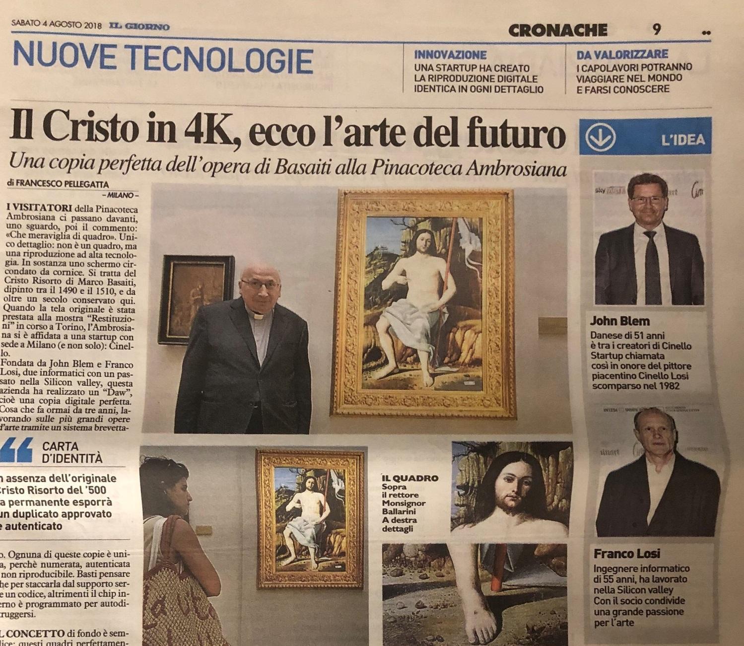 Il Cristo in 4K,ecco l'arte del futuro