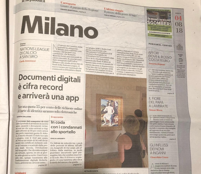 Se il quadro va in prestito il museo espone la copia digitale autenticata
