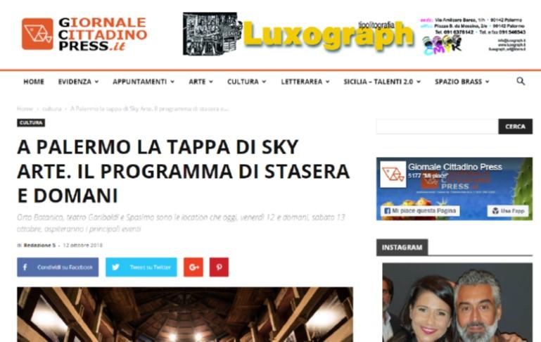 A Palermo la tappa di Sky Arte. Il programma di stasera e domani