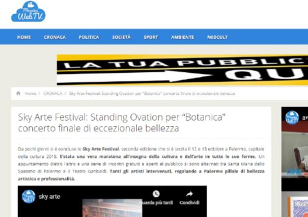 """SkyArte Festival: Standing Ovation per """"Botanica"""" concerto finale di eccezionale bellezza"""