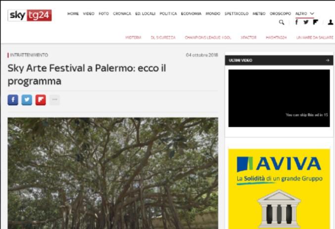 Sky Arte Festival a Palermo: ecco il programma