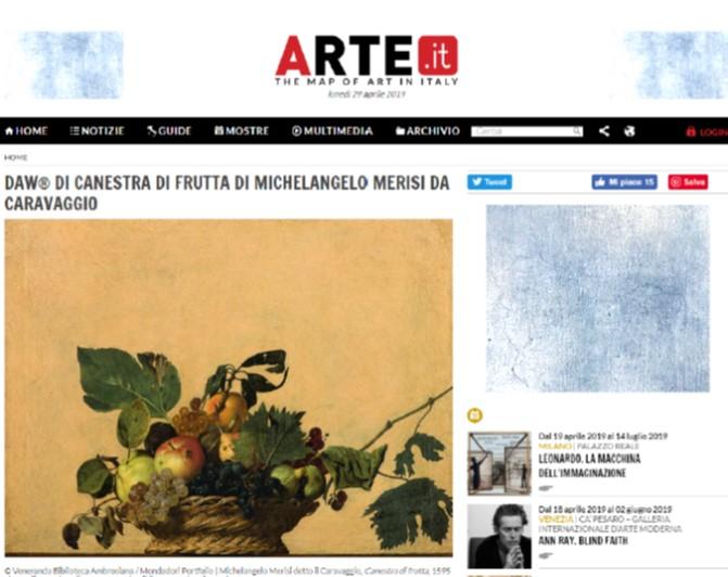 DAW di Canestra di Frutta di Michelangelo Merisi da Caravaggio