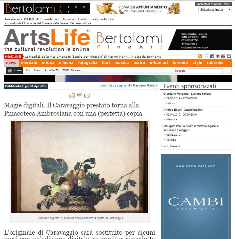 Magie digitali. Il Caravaggio prestato torna alla Pinacoteca Ambrosiana con una (perfetta) copia