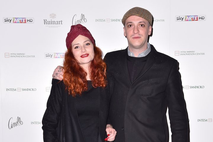 MILAN, ITALY - APRIL 11:  Alice Manni and Dennis Val attend Save The Artistic Heritage - Vernissage Cocktail on April 11, 2018 in Milan, Italy.