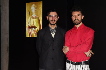 MILAN, ITALY - APRIL 11:  Matteo Bergamini and Mattia Solari attend Save The Artistic Heritage - Vernissage Cocktail on April 11, 2018 in Milan, Italy.  (Photo by Stefania M. D'Alessandro/Getty Images for Cinello) *** Local Caption *** Matteo Bergamini;Mattia Solari