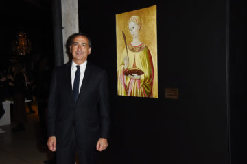 MILAN, ITALY - APRIL 11:  Giuseppe Sala attends Save The Artistic Heritage - Vernissage Cocktail on April 11, 2018 in Milan, Italy.  (Photo by Stefania M. D'Alessandro/Getty Images for Cinello) *** Local Caption *** Giuseppe Sala