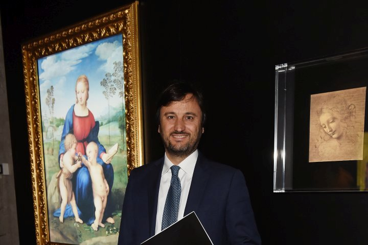 MILAN, ITALY - APRIL 11:  Alberto Losacco attends Save The Artistic Heritage - Vernissage Cocktail on April 11, 2018 in Milan, Italy.  (Photo by Stefania M. D'Alessandro/Getty Images for Cinello) *** Local Caption *** Alberto Losacco