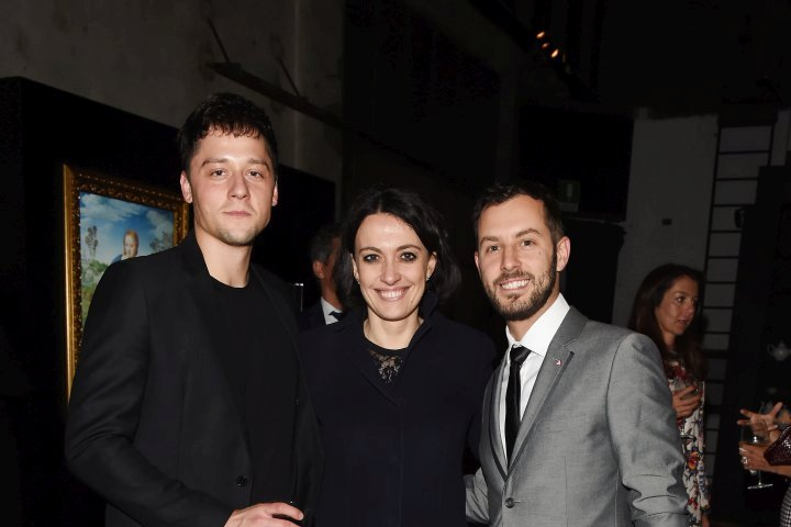 MILAN, ITALY - APRIL 11:  (L-R) Luca Dalla Valle and Greg attend Save The Artistic Heritage - Vernissage Cocktail on April 11, 2018 in Milan, Italy.  (Photo by Stefania M. D'Alessandro/Getty Images for Cinello) *** Local Caption *** Luca Dalla Valle;Greg