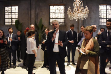 MILAN, ITALY - APRIL 11:  Luca Renzi attends Save The Artistic Heritage - Vernissage Cocktail on April 11, 2018 in Milan, Italy.  (Photo by Stefania M. D'Alessandro/Getty Images for Cinello) *** Local Caption *** Luca Renzi