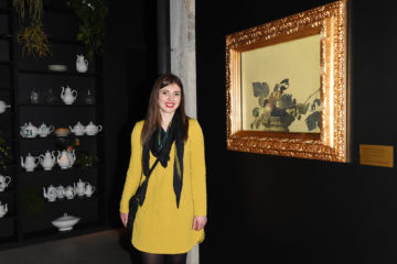 MILAN, ITALY - APRIL 11:  A guest attends Save The Artistic Heritage - Vernissage Cocktail on April 11, 2018 in Milan, Italy.  (Photo by Stefania M. D'Alessandro/Getty Images for Cinello)