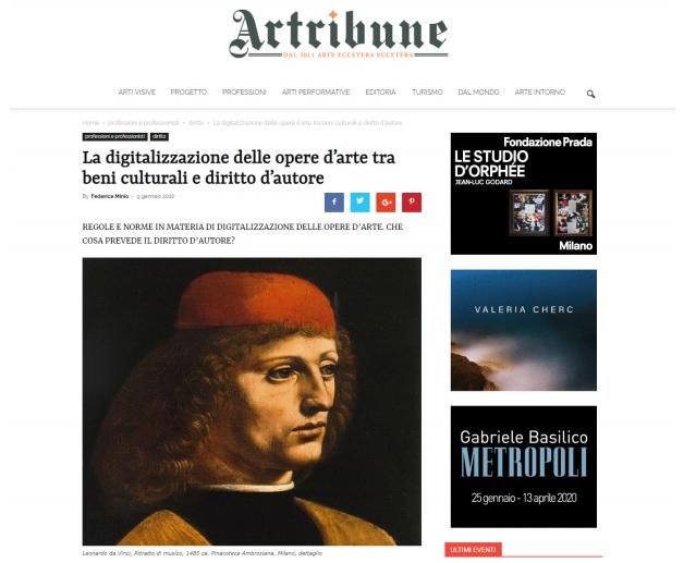 La digitalizzazione delle opere d'arte tra beni culturali e diritto d'autore