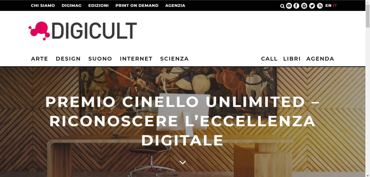PREMIO CINELLO UNLIMITED – RICONOSCERE L'ECCELLENZA DIGITALE